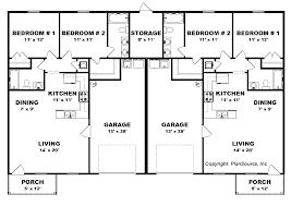 Two Bedroom Two Bath House Plans Interesting 2 Bedroom Duplex House Plans Contemporary Best Idea