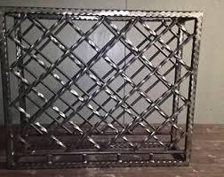 handcrafted welded steel wine rack