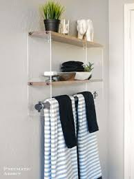 Wooden Shelves For Bathroom Diy Wood And Acrylic Bathroom Shelf Shelterness