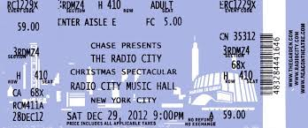 radio city christmas spectacular tickets file new york radio city ticket 4832 jpg wikimedia commons