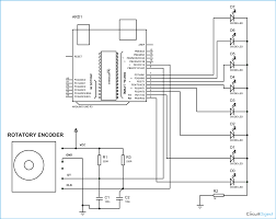 Rotary Coil Wiring Diagram Led Chaser Using Arduino And Rotary Encoder Circuit Diagram