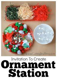 invitation to create ornament station what can we do