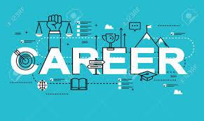 design management careers word career line flat vector business design for job candidate