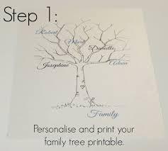 family tree template family tree thumbprint template u2026 pinteres u2026