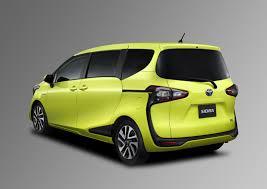 yellow toyota truck toyota sienta debuts in japan with 1 5 liter hybrid powertrain