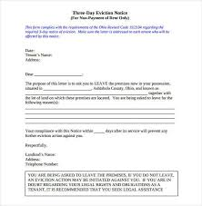 printable eviction notice printable sample eviction notice