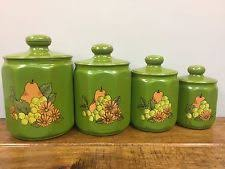 yellow kitchen canisters retro canisters ebay