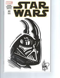 star wars 1 ken haeser darth vader sketch variant cover u2013 rodman