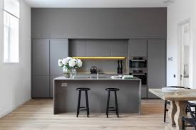 kitchen airy kitchen features light grey cabinet with low marble