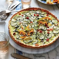 zucchini u0026 goat cheese quiche recipe myrecipes