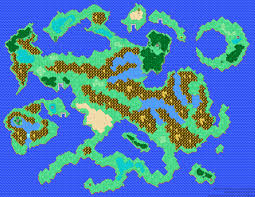 Final Fantasy 2 World Map by Old Timey Games Final Fantasy I Dawn Of Souls Extras