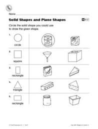 plane and solid figures worksheet grade 2 shapes solid figure