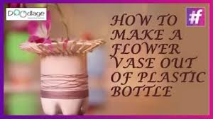 easy diy tutorial how to make a flower vase out of plastic