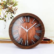 creative clocks vintage wooden wall clocks best decor things