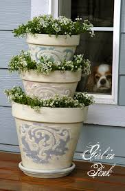 Cute Flower Pots by In Pink How To Create Beautiful Finishes On Flower Pots And