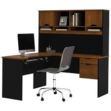 Small Black Desk Canada Innova Corner Desk With Hutch Tuscany Brown Black Desks