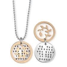quote gandhi change world be the change u0027 necklace inspirational gandhi quote jewelry u0027be
