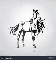mustang horse silhouette silhouette of a horse with a long mane siluetas pinterest