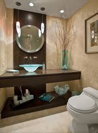 beautiful round wal mirror with simple frame for modern bathroom