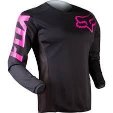 womens thor motocross gear all new fox racing 2015 womens blackout jersey black pink wide