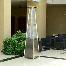 Patio Heater Pyramid by Outsunny Pyramid Patio Heater φ18 2x13 4h Cm Stainless Steel
