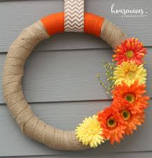 simple spring wreath tutorial housewives