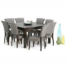 simpli home cosmopolitan 9 piece tanners brown dining set axcds9