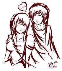 drawings of cartoon couples romance anime cartoons romantic