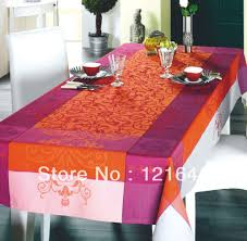 Oblong Table Cloth New Popular Classic Table Line 100 Polyester Home Tablecloth