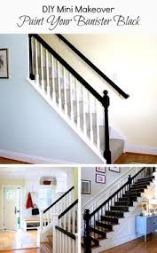 Painting A Banister White Black And White Painted Banisters Paint Banister Painting