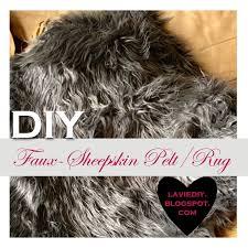 la vie diy diy faux sheepskin rug or pelt