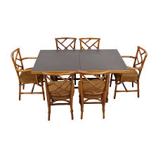 Bamboo Dining Room Chairs 75 Off Tall Extendable Dining Room Table Set Tables