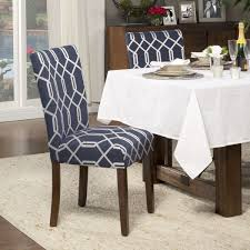 Best Fabric For Dining Room Chairs by Homepop Navy Blue Silver Lattice Elegance Parson Chairs Set Of 2