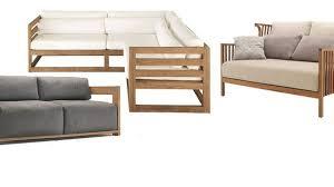 meuble jardin 5 canapés en bois pour l extérieur côté maison