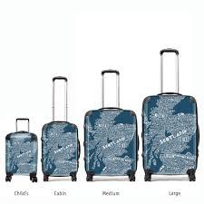 Suitcases Mapped Out U0027 Scottish Map Suitcase Petrol Blue Gillian Kyle