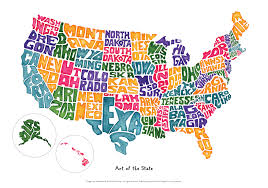 Usa Map By State by Art Of The State U2013 Usa Map Jeanine Colini