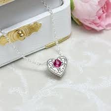 mothers jewelry birthstone birthstone heart mothers necklace with add on hearts slides available