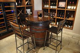 Barrel Bistro Table Wine Barrel Pub Table Sosfund For Bar Tables Decorating 20 Well