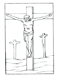 coloring pages jesus died on the cross coloring pages of on the