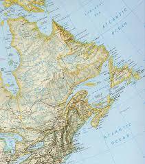 map east coast canada east coast of canada map map