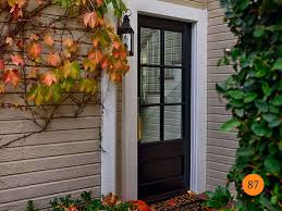 Fiberglass Exterior Doors With Glass Learn How To Choose Front Door Glass Inserts Get To About