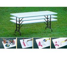 Adjustable Height Folding Table Correll Ra3072s Preschool Height 30x72 Adjustable Height Folding Table
