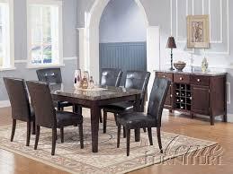 black marble dining table set acme furniture danville black marble top dining table set 07058