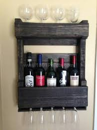 wine racks and bars made of recycled wooden pallets wooden