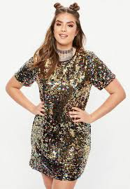 coloured dress curve multi coloured sequin t shirt dress missguided ireland