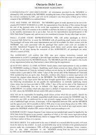 occa helps deputy judge serafini and ontario debt law enter debt