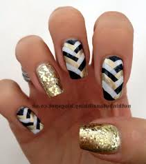 black white and gold gel nail designs another heaven nails