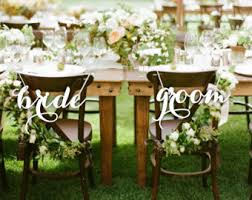 Bride And Groom Chair Signs Are You Getting Married In The Summer Daisy Chain Invites