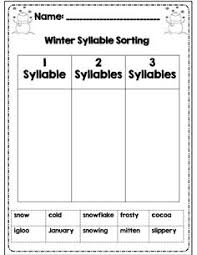 brilliant ideas of syllables worksheets 1st grade for resume