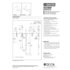 Delta Faucets Parts List Delta Faucet 155 Dst Victorian Polished Chrome One Handle With